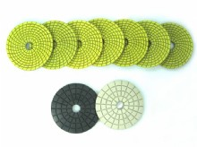 Spiral yellow and green Wet Pads DM_05