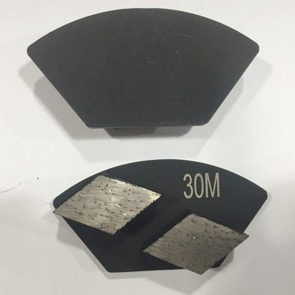 Double Rhombus Segments Diamond Grinding Shoe Concrete