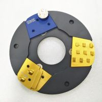 Quick change adaptor for Lavina disc fit in Klindex machine